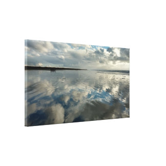 Ocean Sky Reflections Stretched Canvas Print