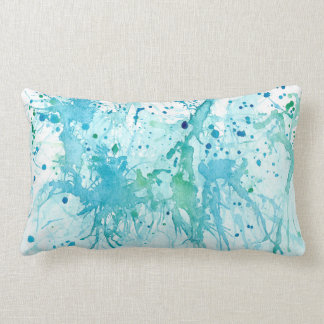Ocean Splatter Lumbar Pillow