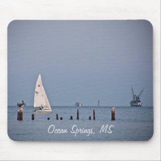 Ocean Springs Boats Mouse Pad