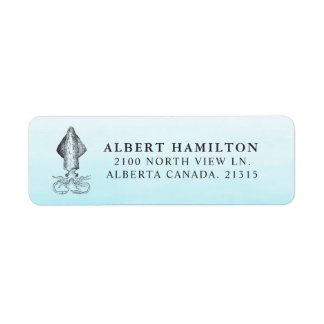 Ocean Squid | Personalized Return Address Return Address Label