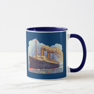 Ocean Steam Liner Ship Mug