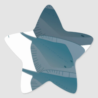 Ocean Stingrays Star Sticker