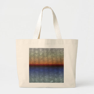 Ocean Sunrise Bubble Wrap Effect Large Tote Bag