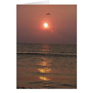 Ocean Sunrise Card