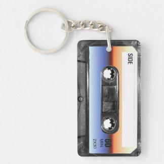 Ocean Sunrise Cassette Double-Sided Rectangular Acrylic Keychain