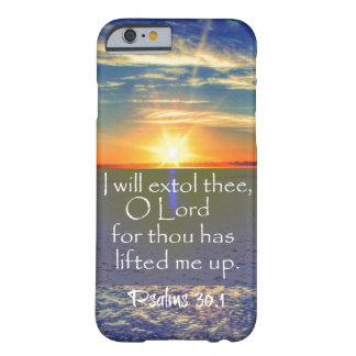 Ocean Sunrise with Psalms Bible Verse Barely There iPhone 6 Case