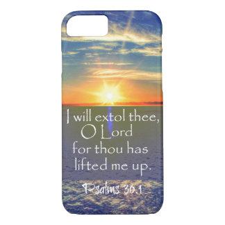 Ocean Sunrise with Psalms Bible Verse iPhone 7 Case