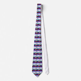 Ocean Sunset Bass Guitar Neck Music Tie