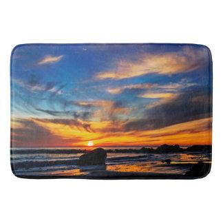 Ocean Sunset Bathroom Mat