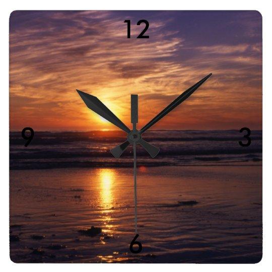 Ocean sunset clocks