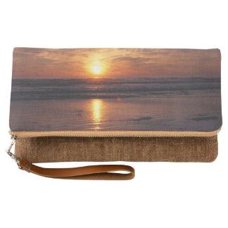 Ocean sunset clutch