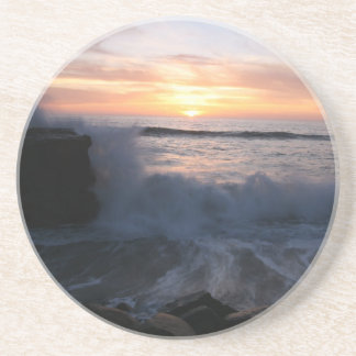Ocean sunset coasters