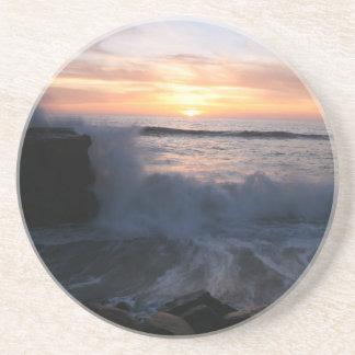 Ocean sunset coasters