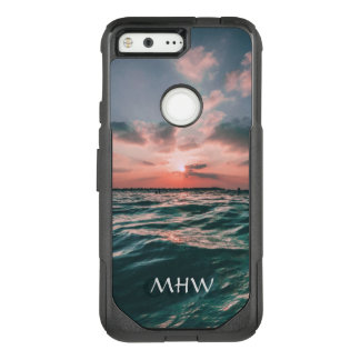 Ocean Sunset custom monogram phone cases