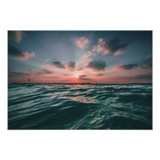 Ocean Sunset custom poster