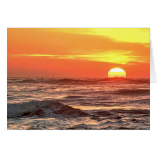 Ocean Sunset Display Card