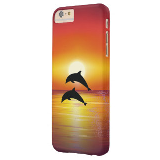 Ocean Sunset Dolphins Couple Playing Love Barely There iPhone 6 Plus Case