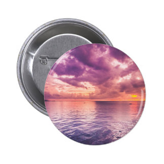 Ocean Sunset Inspirational 2 Inch Round Button
