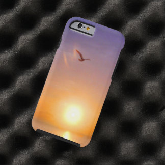 Ocean Sunset Lone Seagull Tough iPhone 6 Case