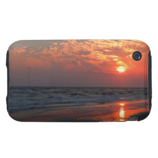 Ocean Sunset - Oak Island, NC iPhone 3 Tough Covers