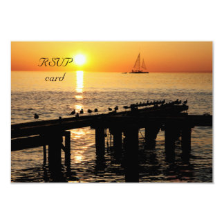 ocean sunset RSVP card