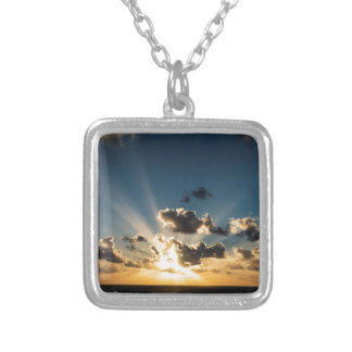 Ocean Sunset Silver Plated Necklace