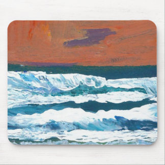 Ocean Sunset Waves CricketDiane Beach Surf Mouse Pad
