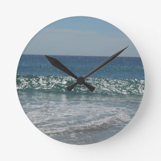 ocean surf  waves seaside round clock