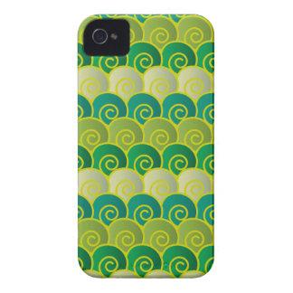 Ocean Swirls Green BlackBerry Bold Case