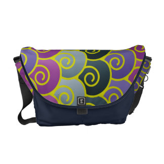 Ocean Swirls Purplish Messenger Bag