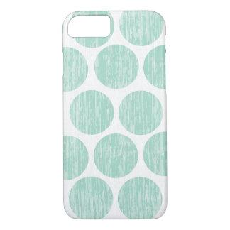 Ocean Teal Distressed Polka Dot iPhone 7 iPhone 7 Case