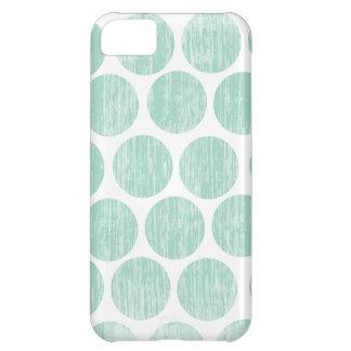 Ocean Teal Distressed Polka Dot iPhone iPhone 5C Cover