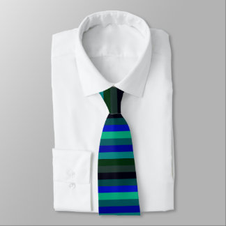Ocean Temps Horizontally-Striped Tie