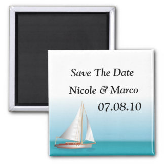 Ocean Theme Wedding Save The Date Magnet
