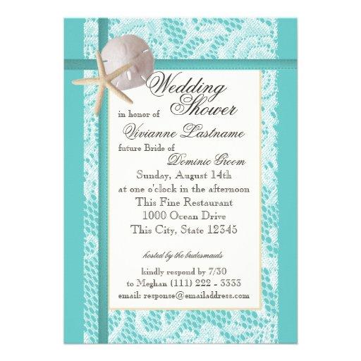 Ocean Theme Wedding Shower Custom Invites