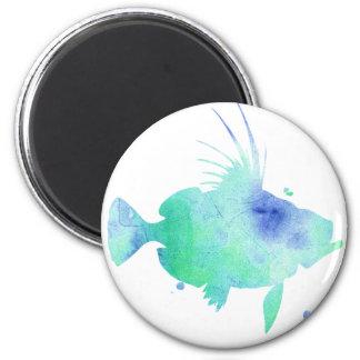 Ocean tide Aqua Fish custom print 2 Inch Round Magnet