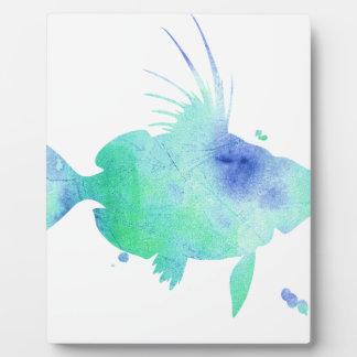 Ocean tide Aqua Fish custom print Plaque