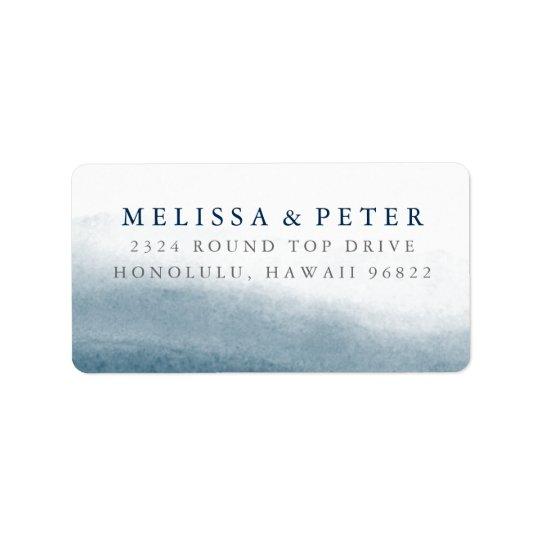 Ocean Tides Oversized Return Address Label