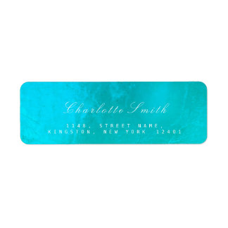 Ocean Tiffany  Glass Metal Return Address Labels