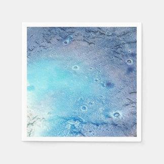 Ocean Topography Paper Napkin