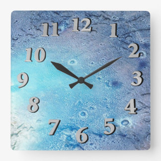 Ocean Topography Square Wall Clock