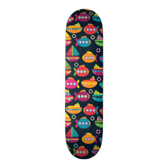 Ocean Transportation Pattern Skateboard Decks