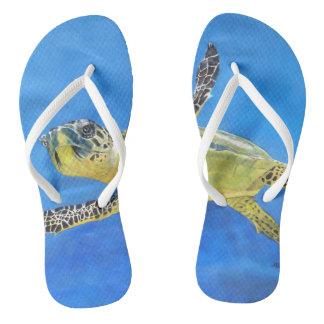 Ocean Turtle Flip Flops