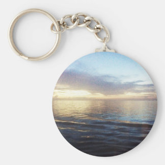 Ocean Twilight Basic Round Button Keychain