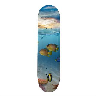 Ocean Underwater Coral Reef Tropical Fish Custom Skate Board