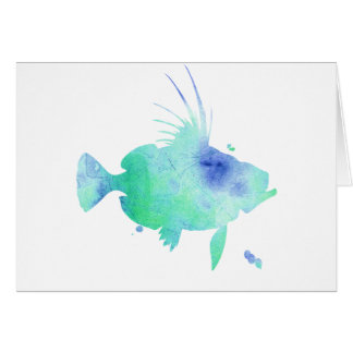 ocean vibes aqua fish card