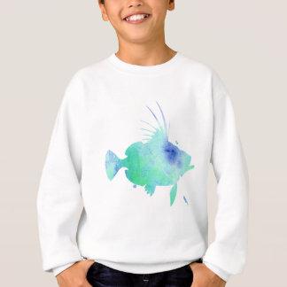 ocean vibes aqua fish sweatshirt