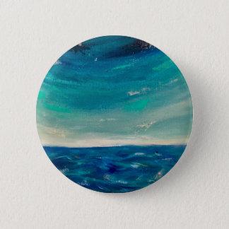 Ocean View 2 Inch Round Button