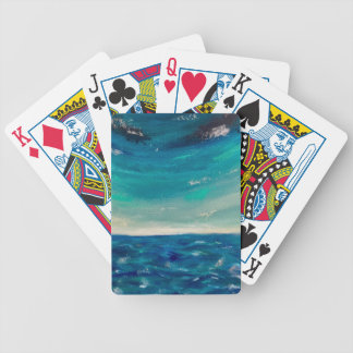 Ocean View Bicycle Playing Cards
