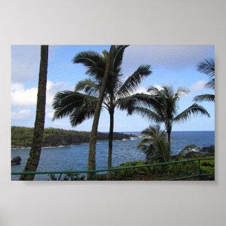 Ocean View Hawaiian Island Maui Poster